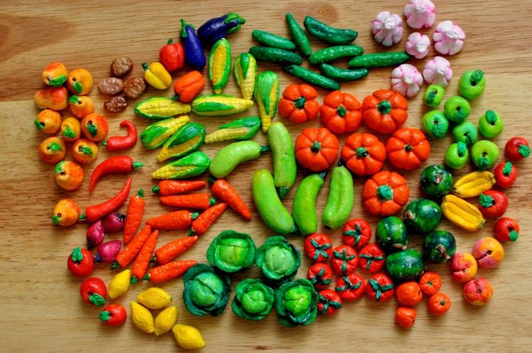 Солёное тесто поделки овощей 246