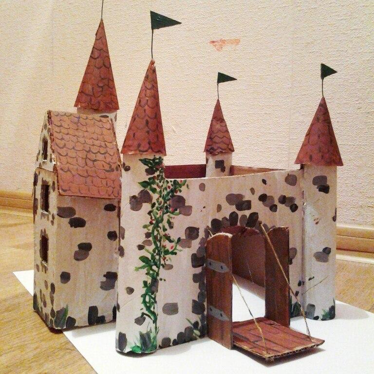 Замок из коробок своими руками картинки 55