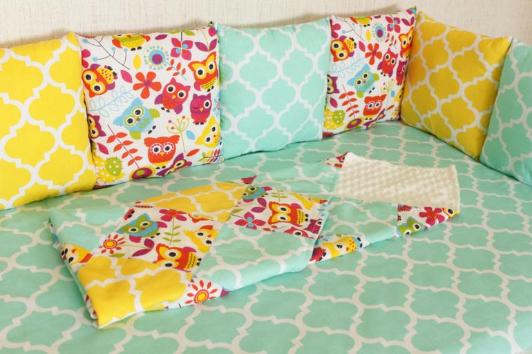 Бортики подушками в кроватку размеры