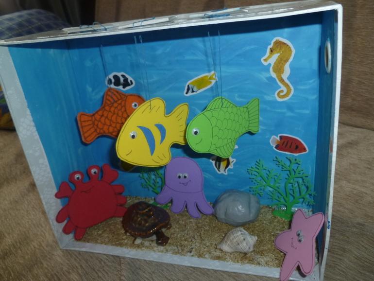 3д аквариум как сделать