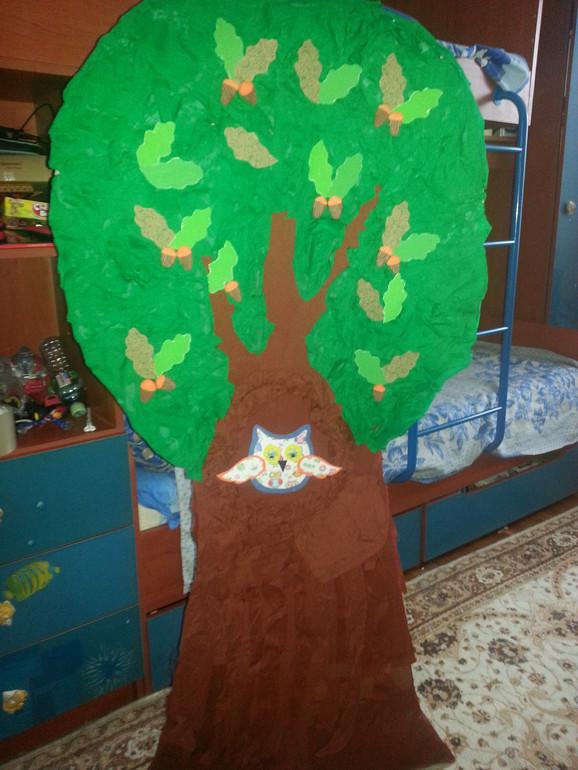 Декорация дерево своими руками фото