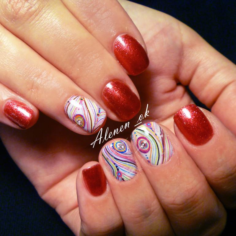 Рисунки на ногтях жидким лаком