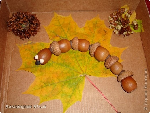 Осенняя поделка из желудей