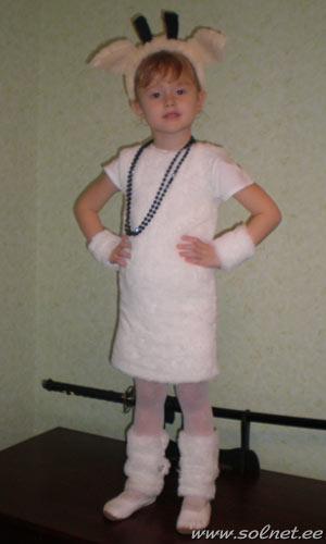 костюм для девочки козочки своими руками