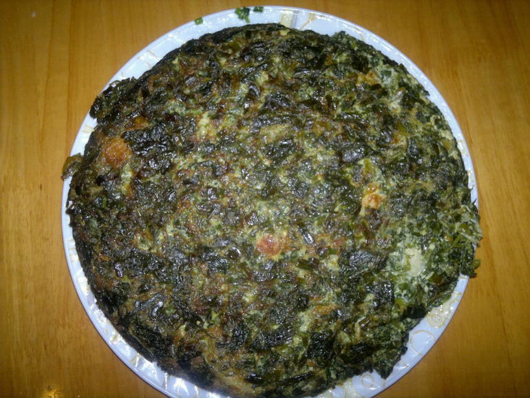 Зеленный омлет. (или коко сабзи)