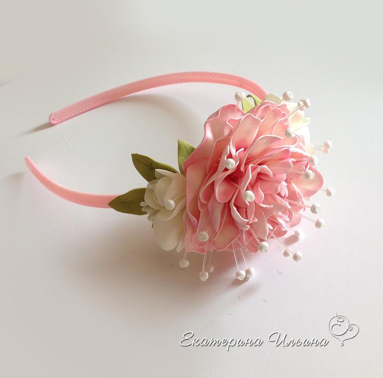 Цветочные ободки для девочек