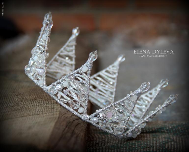 Как сделать корону снежной королевы из проволоки