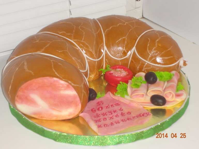 Торт колбаса фото