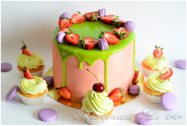 Торт своими руками с глазурью