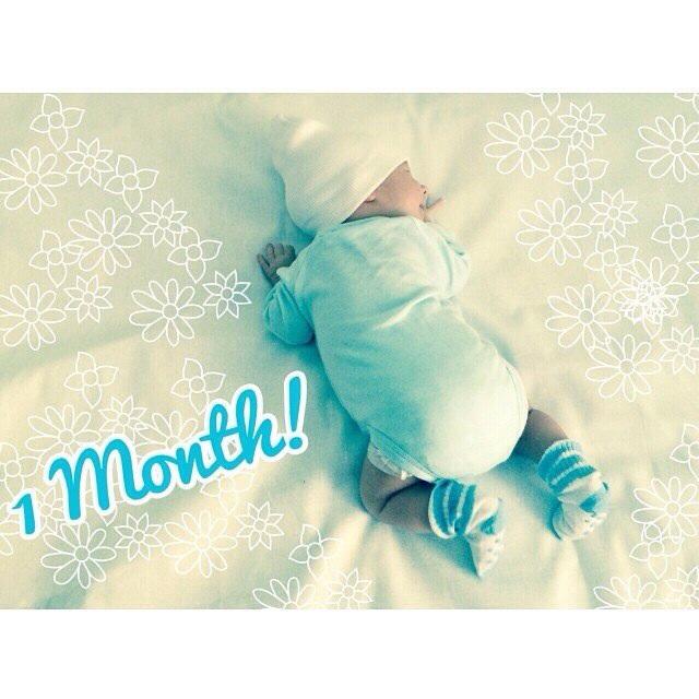 Ребенку на 1 месяц поздравления от