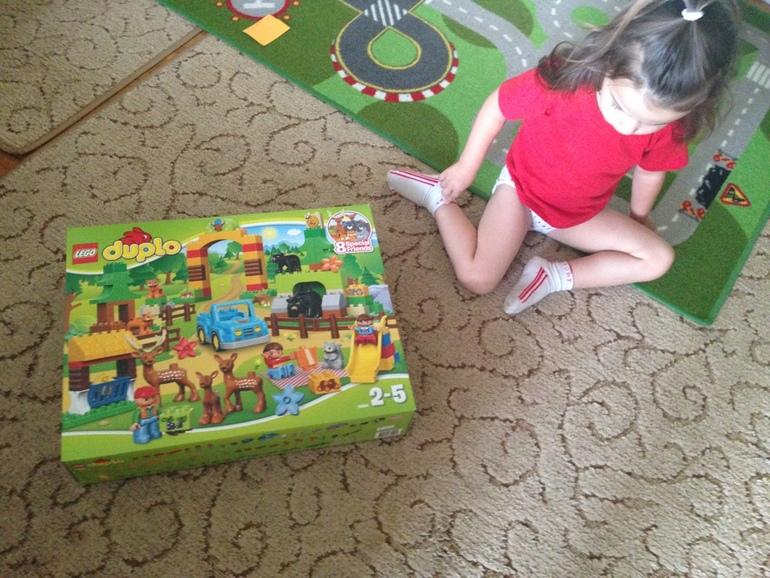 Спасибо за ваш подарок от LEGO® DUPLO® Лесной заповедник!!!