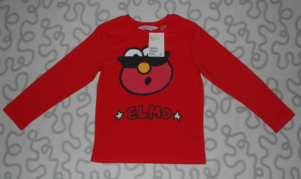 Новая футболка с длинным рукавом H&M, 110-116 см