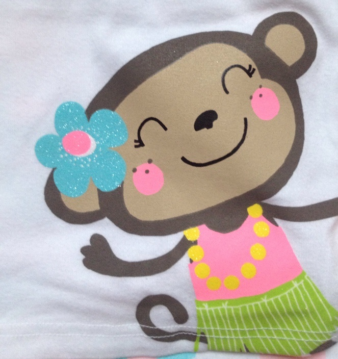Пижама с обезьянкой (новая)