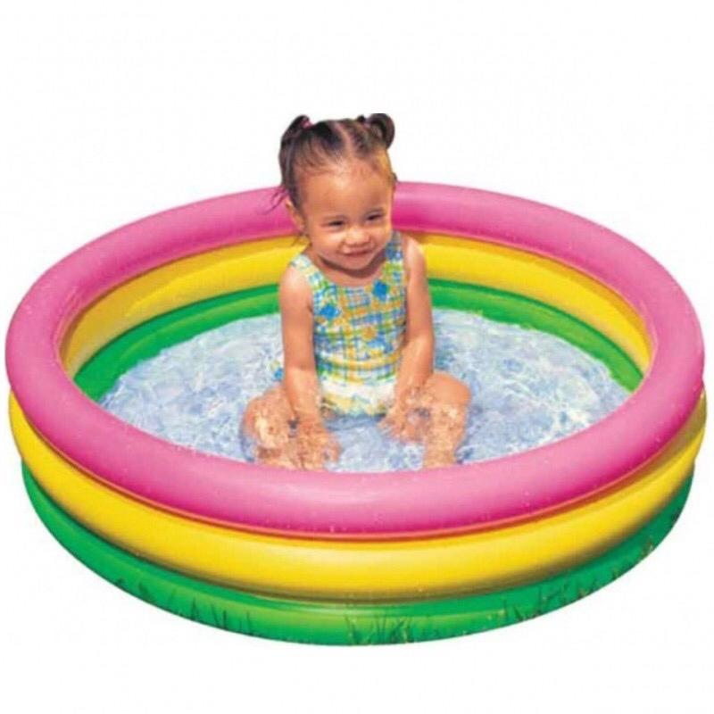 Надувной бассейн, лодка и круг для малыша