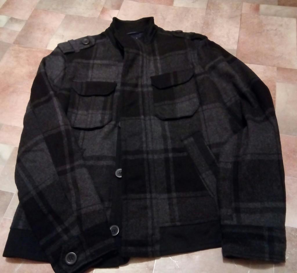 Новое мужское пальто -куртка р.48 воротник стойка