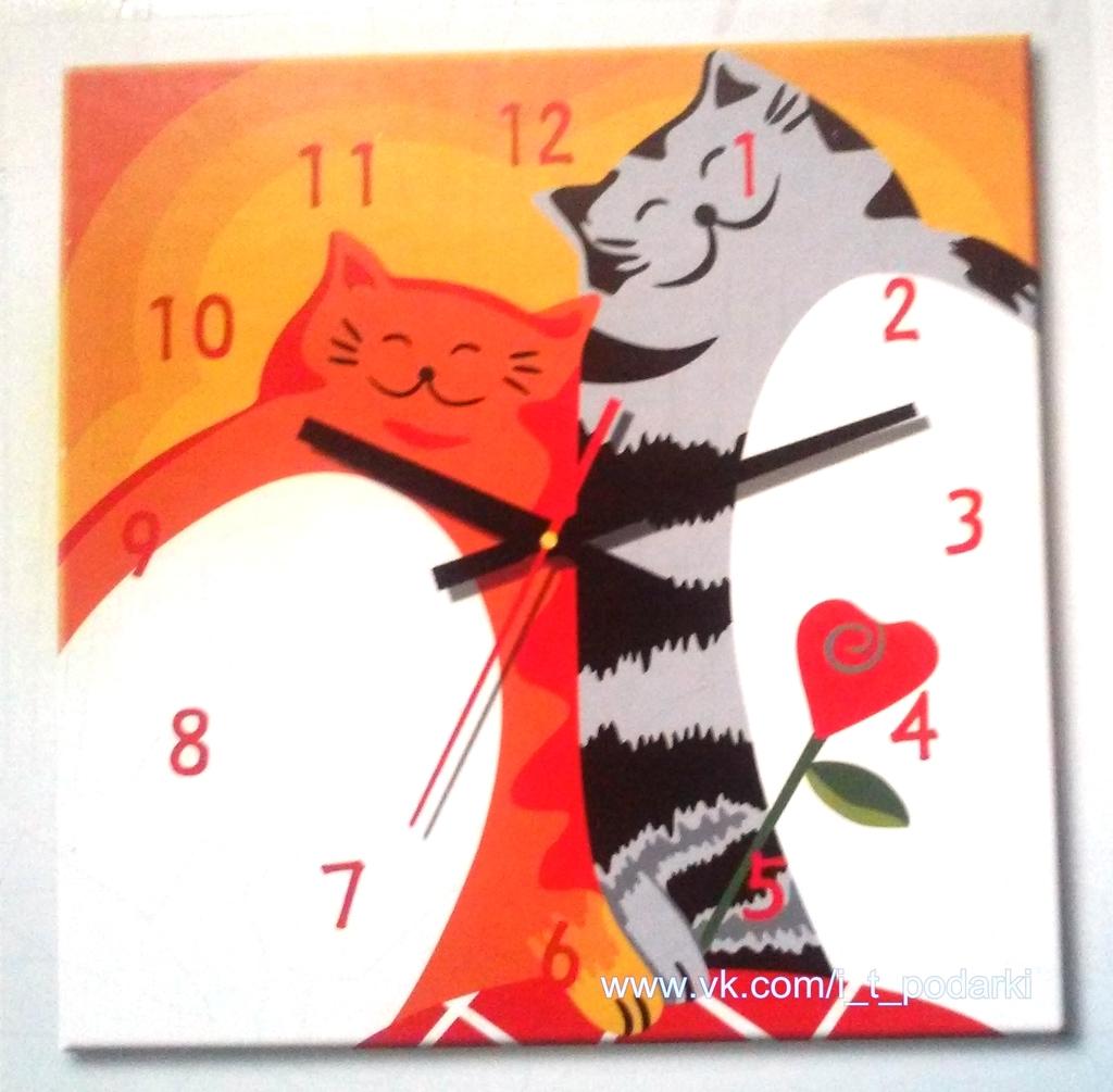 Уникальный подарок на 14 февраля: КАРТИНА-ЧАСЫ