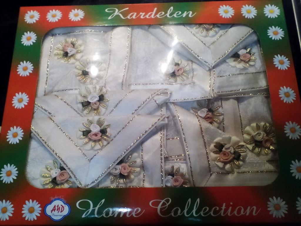 Новая праздничная скатерть+12 салфеток Kardelen Ту