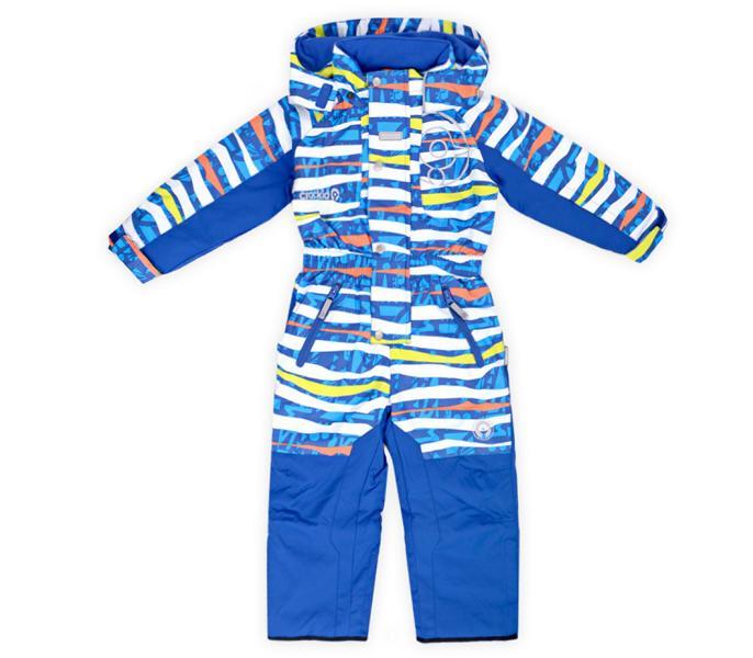 Новый зимний комбинезон Crockid синий в полоску