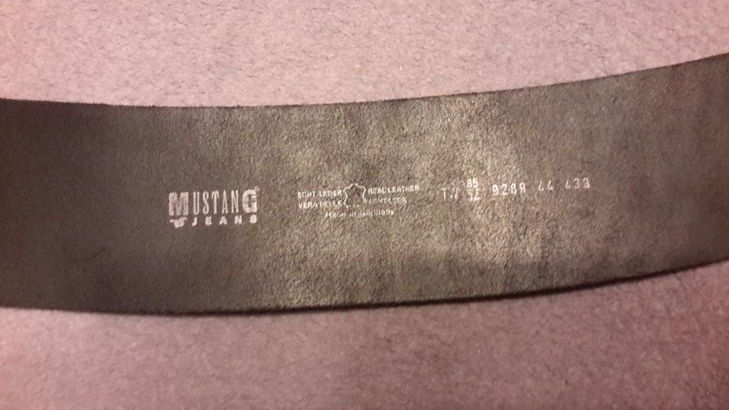 Ремень Mustang jeans кожа новый размер 85/34, отли