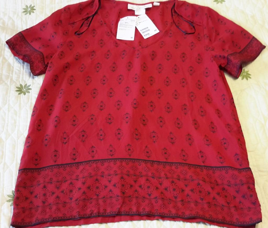 Блузка H&M 100% модал размер 34 евро на наш 40-42