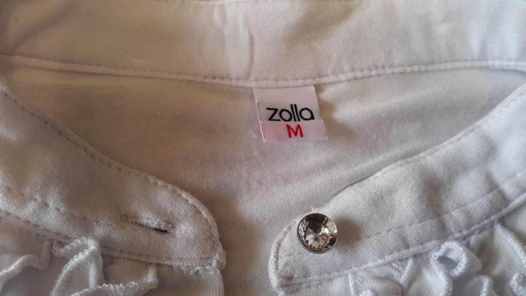 Трикотажная блузка Zolla размер М на 46-48 белая