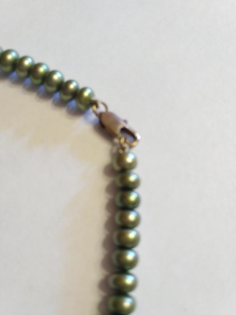Комплект жемчуг речной новый (бусы и браслет)