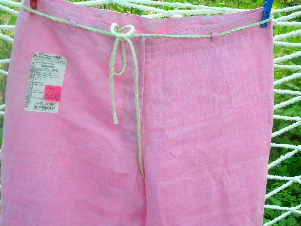 Льняные брюки-капри, новые.