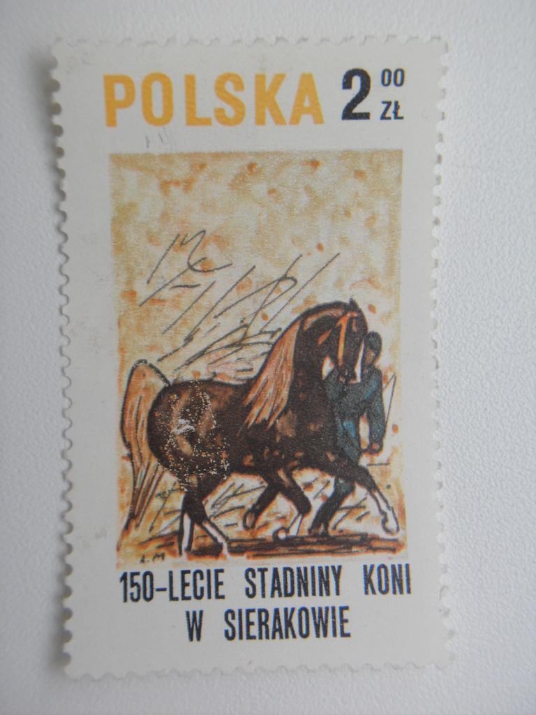 Марка 2zt Польша Кони