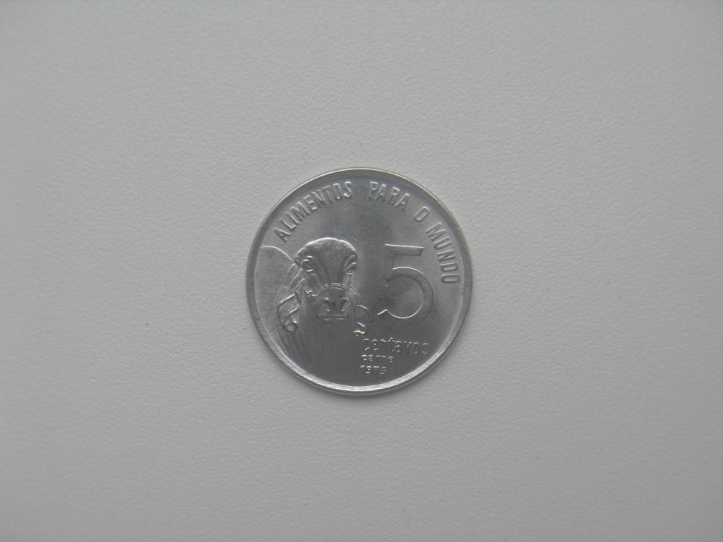 Монета 5 Сентаво 1975 год Бразилия