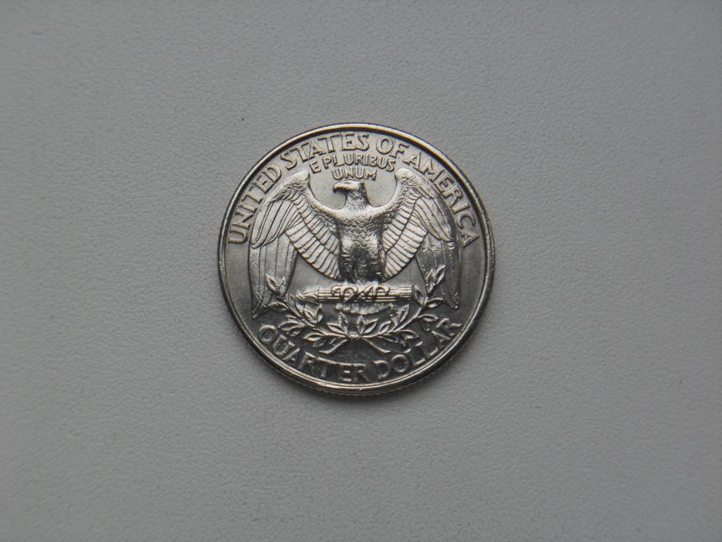 Монета 25 Центов 1996 год D США
