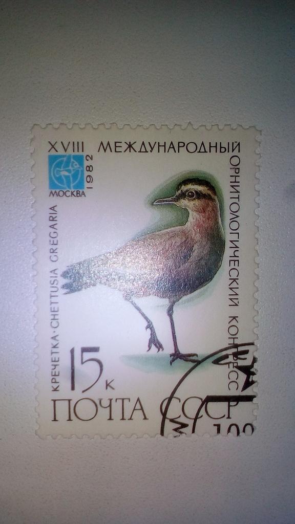Марка 15к 1982 год СССР Кречетка