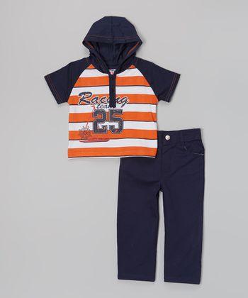 Новый комплект: фтболка с капюшоном+ брюки, р.3