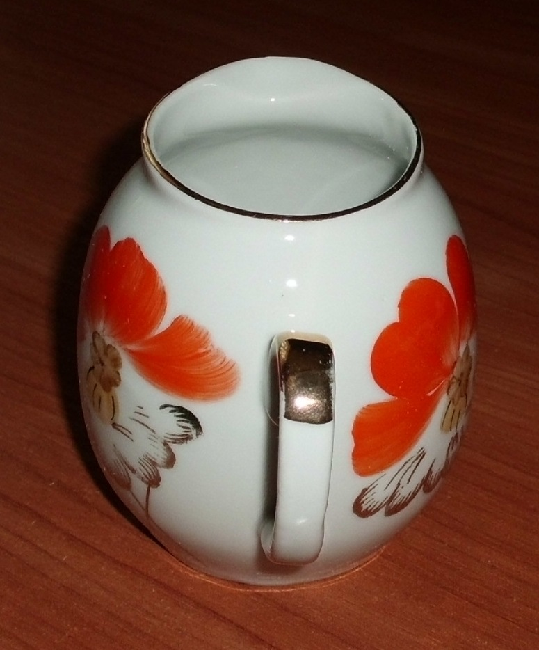 Сливочник молочник Маки фарфор Барановка СССР