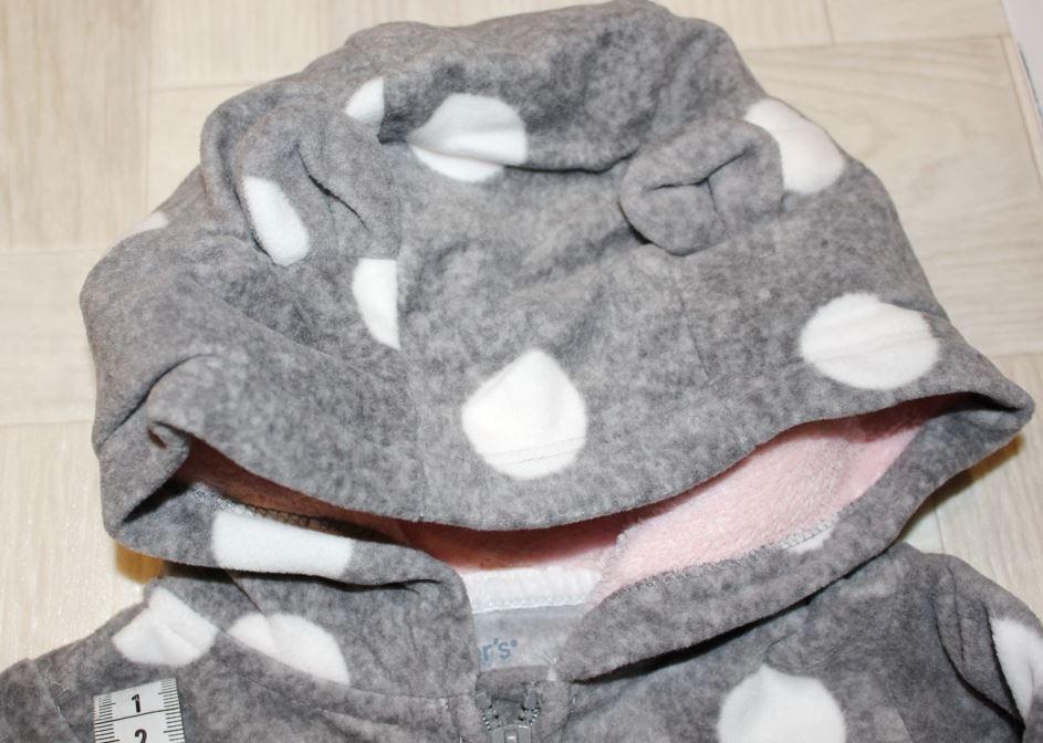 Флисовый комбинезон Carters, размер 12м (72-76 см)