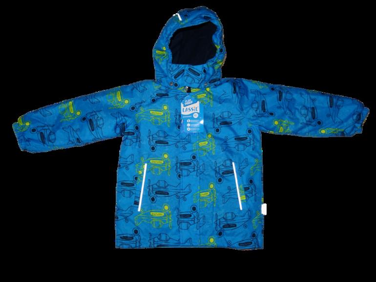 Куртка зимняя для мальчика Lassie синия с аэроплан