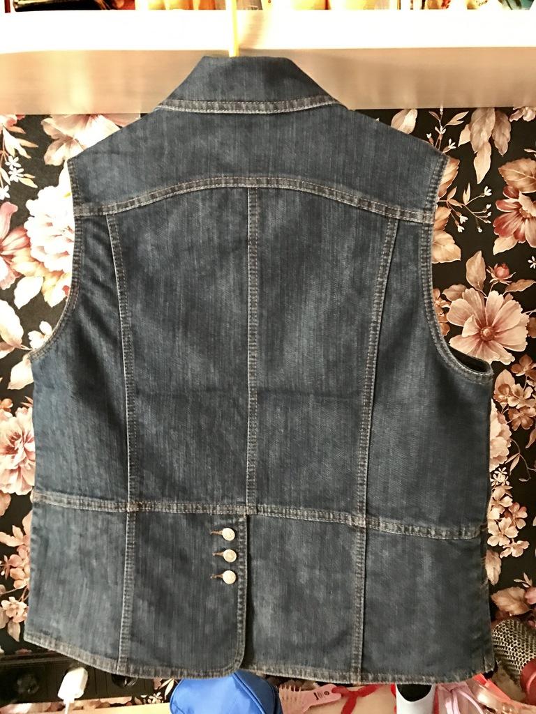 Жилетка джинсовая р 48