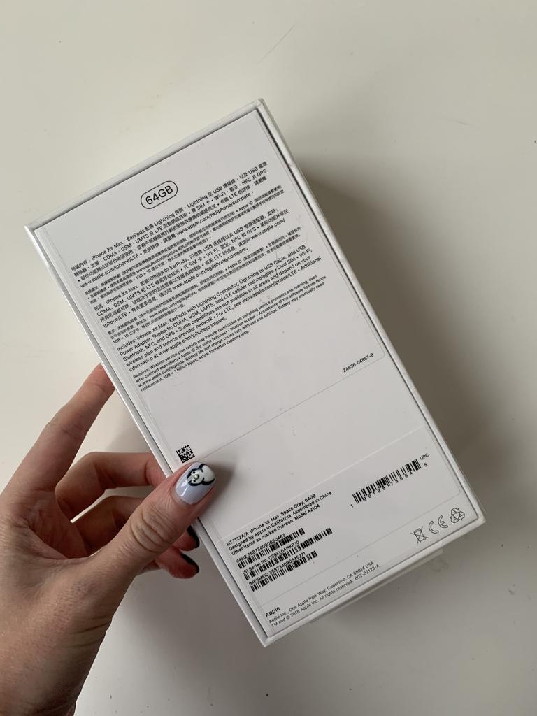 ✅👌👍 iPhone Xs Max, Space Gray, 64GB Dual sim