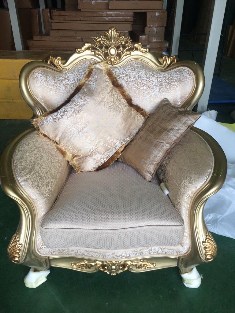 Мягкая мебель Луна-1 золото
