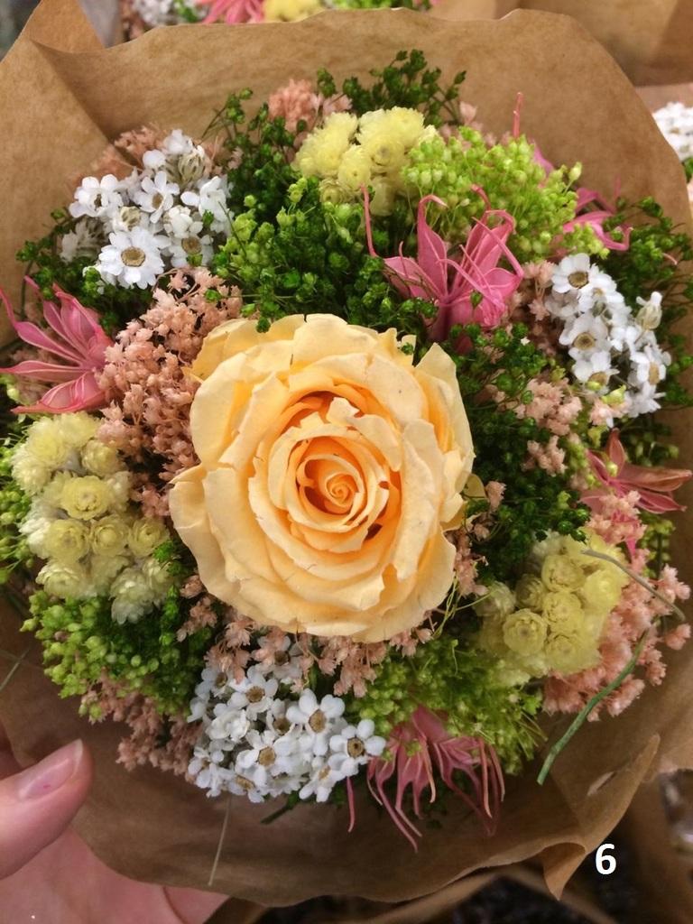 Авторские букеты с сухоцветами.