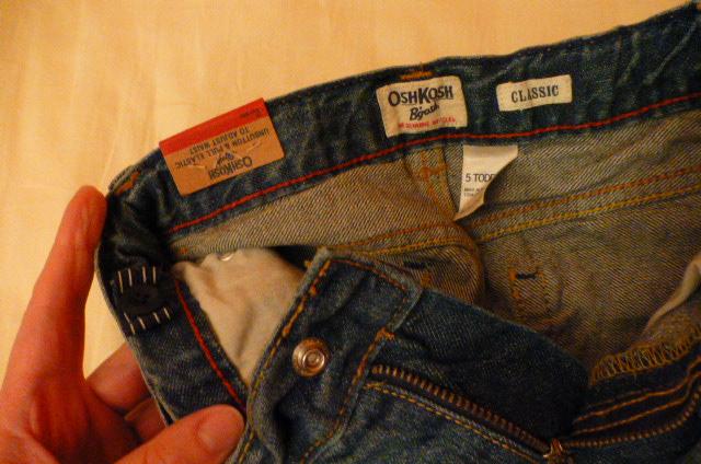 джинсы OshKosh на 5летнего, новые