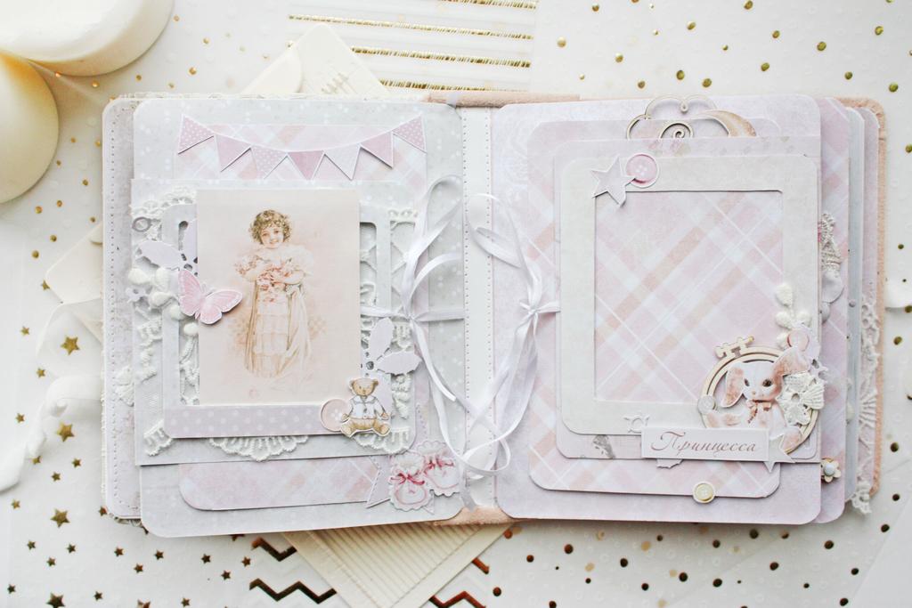 Альбом ручной работы для малышки (фотоальбом для девочки)