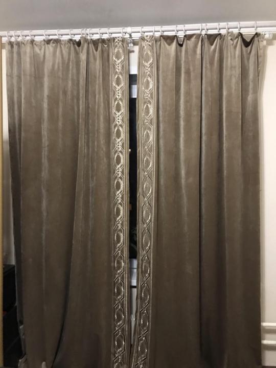 Новые шторы, из тяжелого бархата