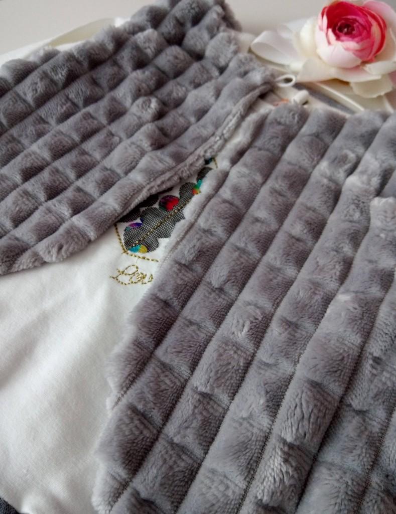 Комплект платье и меховой жилет р. 68, 74