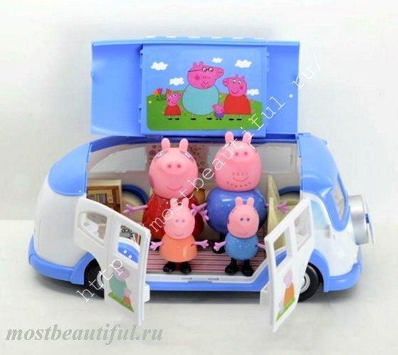 купить набор свинка пеппа и семья