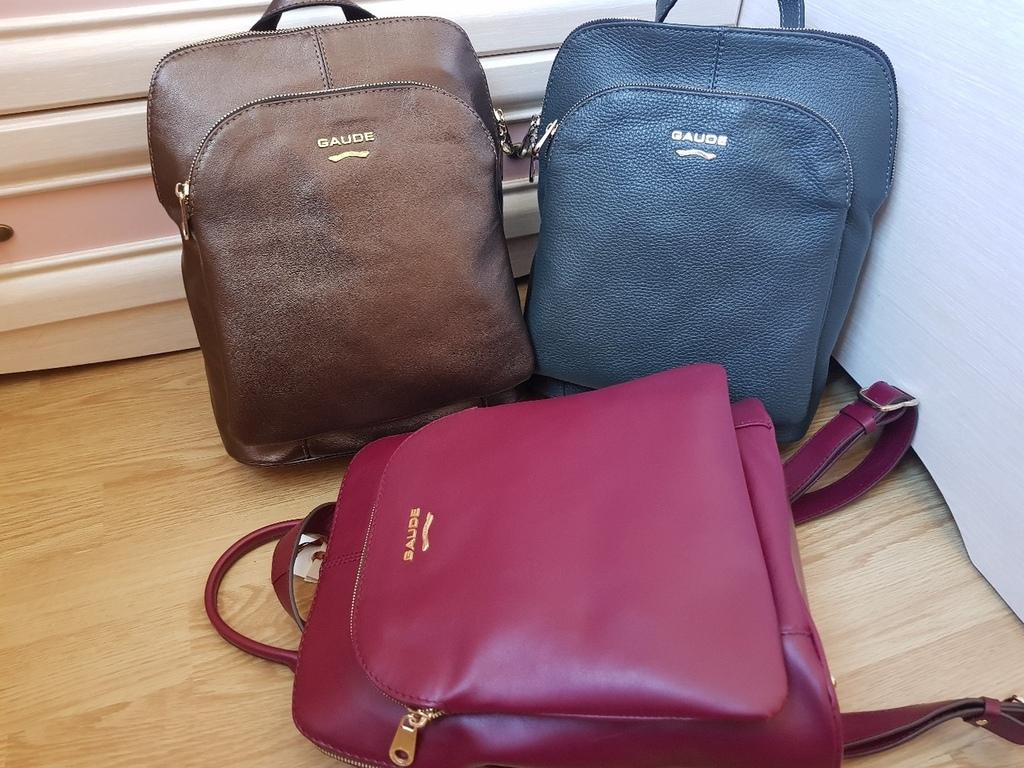 Новые большие кожаные рюкзаки Италия оригинал