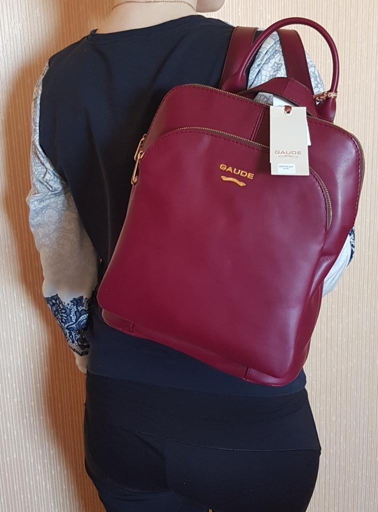 Новый большой кожаный рюкзак Италия