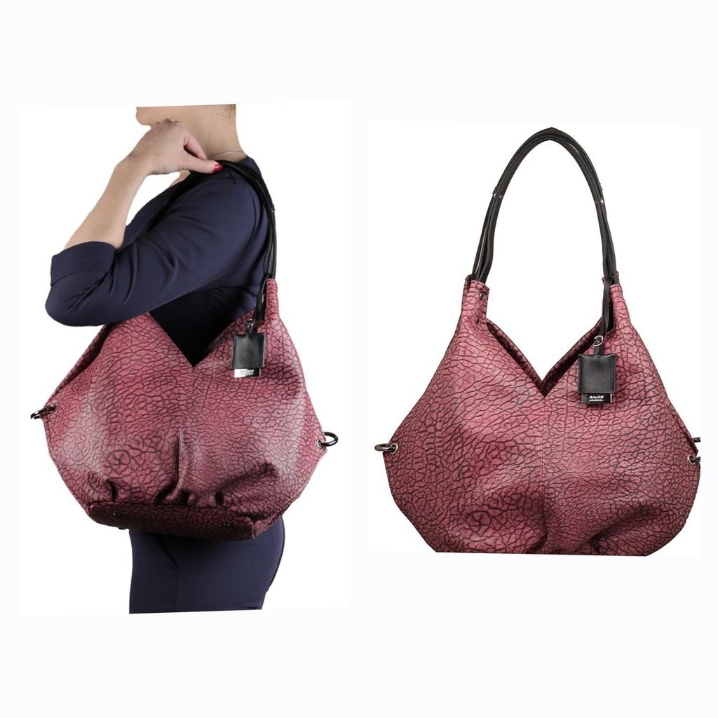Новая кожаная сумка хоббо Италия