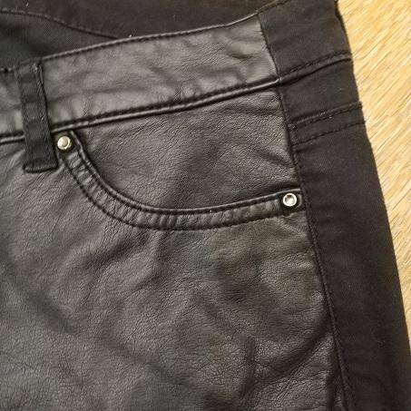 Rezerved кожаные брюки б/у, 44-46р