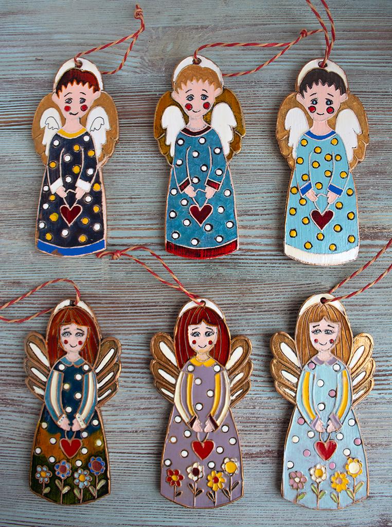Ангел - подвеска керамика