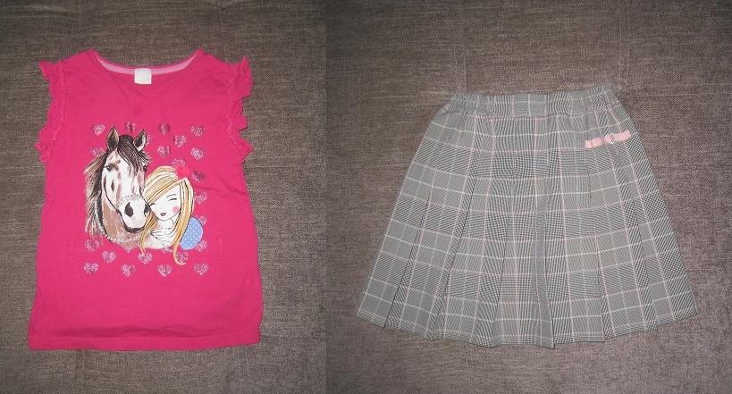 футболка и юбка р.122